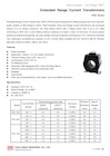 Low-Voltage Current Transformers or Extended Range Current Transformers (ERCT), ROS-A Series