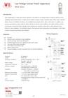 Low-Voltage Tubular Power Capacitors (WSCR Series)