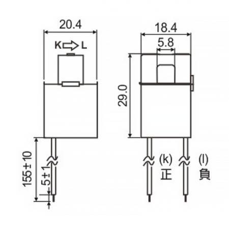 開口式電流傳感器 C06 系列尺寸圖