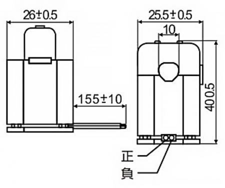 開口式電流傳感器 C10 系列尺寸圖