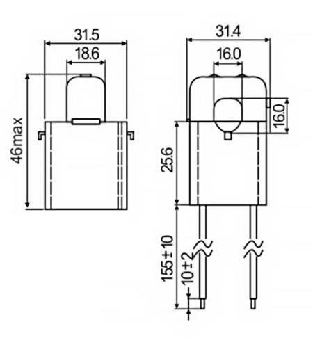 開口式電流傳感器 C16 系列尺寸圖