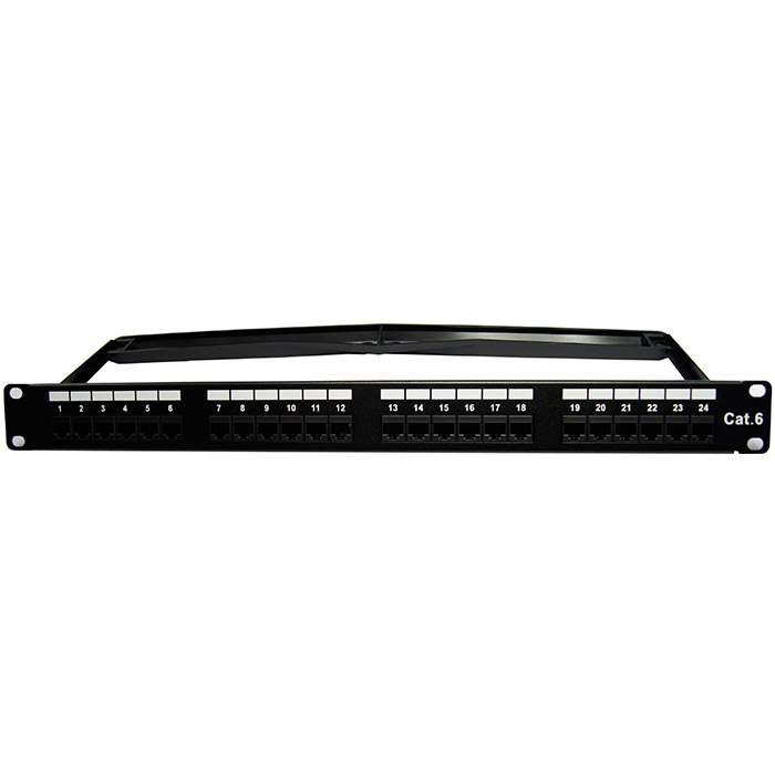 24 Port CAT5e RJ45 110 Network Ethernet Rack Mount 1U 1RU One Space Patch Panel