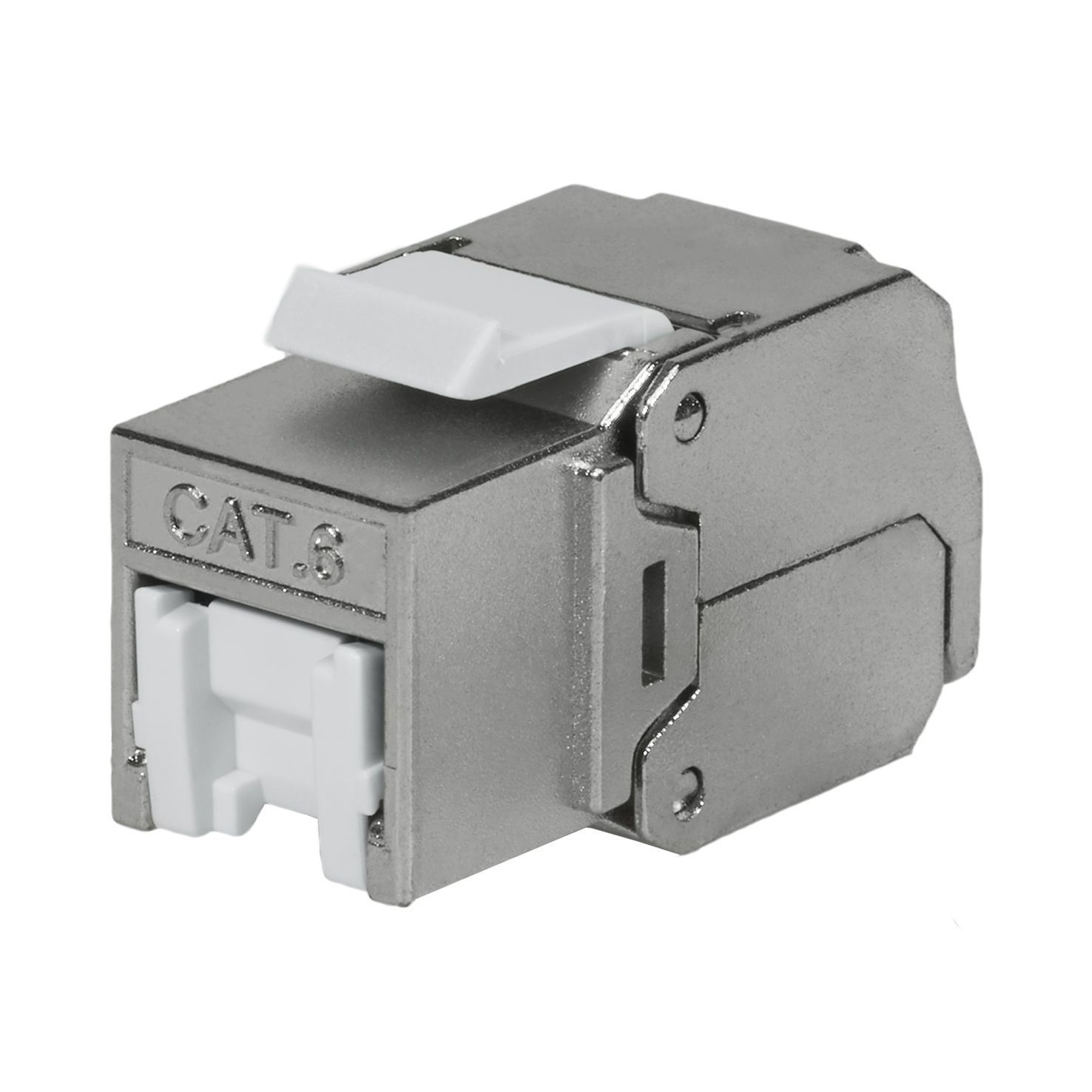 Cat6 STP 180° Toolless RJ45 Keystone Jack With Shutter - Cat 6 FTP 180 Degree Toolless Keystone Jack with shutter