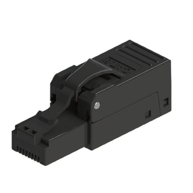 Cat6 UTP Black Field termination RJ45 Connector - Cat6 UTP Black Toolless RJ45 connector