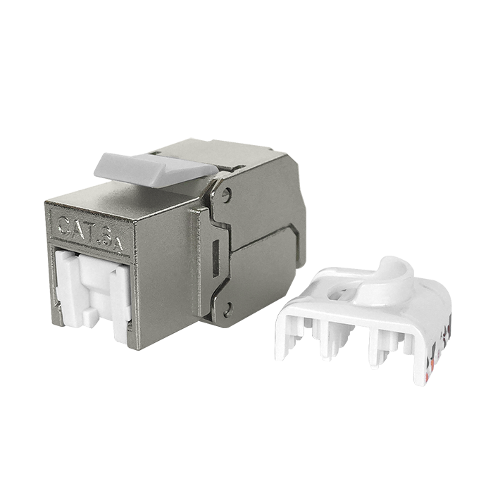 Cat6a STP RJ45 Keystone Jack with Shutter