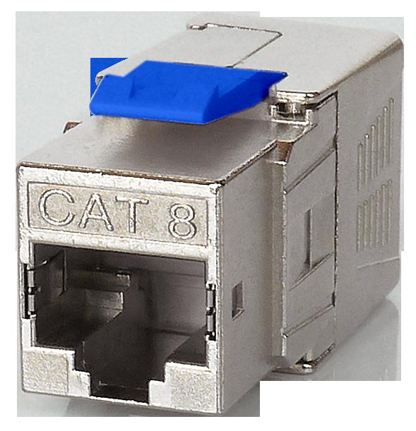 Cat8 FTP Tool-Free Keystone Jack