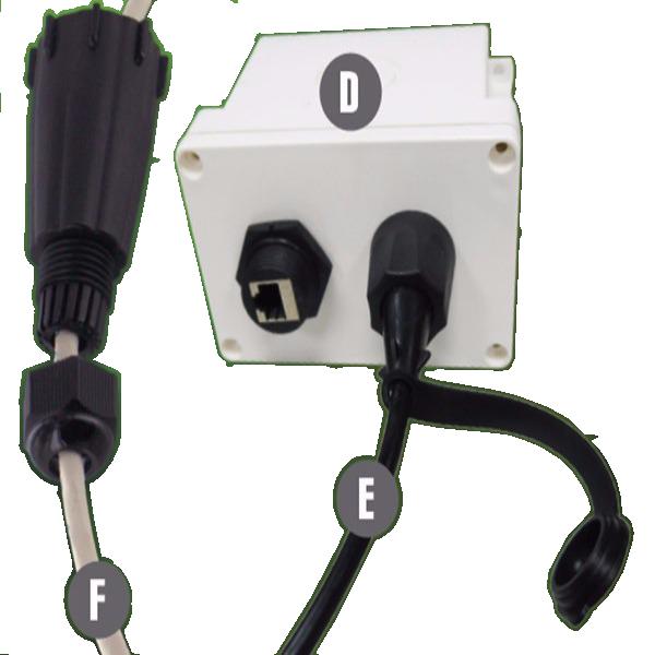 IP68 Industrial RJ45 Ethernet Coupler