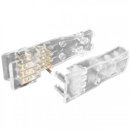 110 moduláris dugó 2 pár - 110 Csatlakozó 2 pár