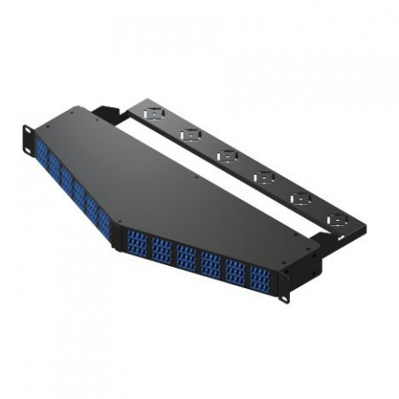 1U 144 Port MTP to LC High Density Angled Patch Panel - 1RU 144 Ports MTP to LC Angled Patch Panel