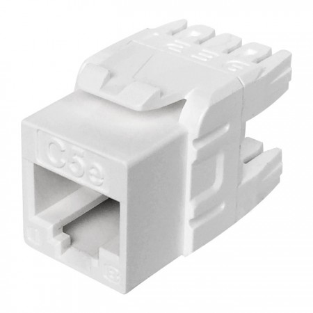 Cat5E UTP 180° 110 Punch Down RJ45 Keystone Jack - CAT5e UTP RJ45 Keystone Jack