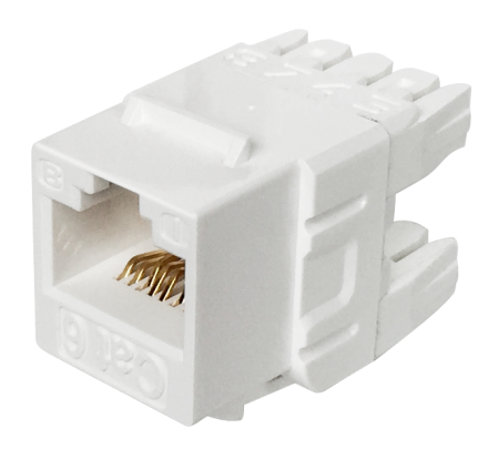 Cat6 UTP 180° 110 Punch Down RJ45 Keystone Jack - Cat 6 UTP RJ45 Keystone Jack