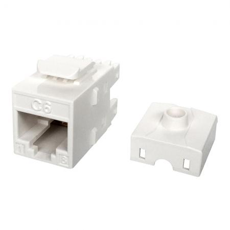 Cat6 UTP 180 ° 110 Punch Down RJ45 Keystone Jack för 28AWG-kabel - Cat 6 UTP RJ45 Keystone Jack