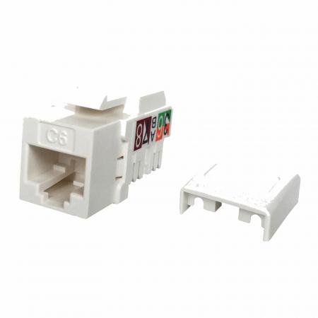 Cat6 UTP 90° 110 Punch Down RJ45 Keystone Jack - Cat 6 UTP RJ45 Keystone Jack
