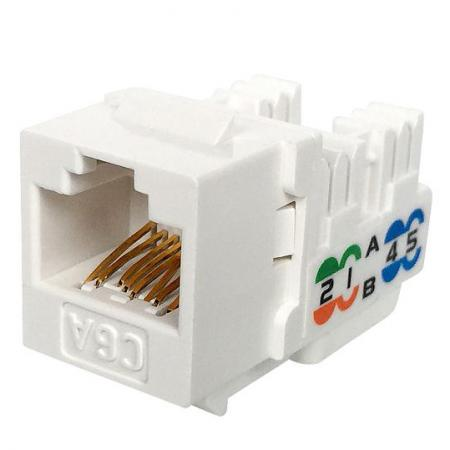 Cat6A UTP 90° 110 Punch Down Keystone Jack - Cat6A UTP 90 degree Keystone Jack