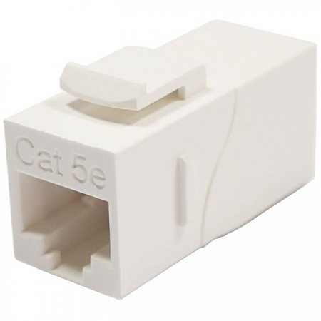 Cat. 5E UTP 90 Degree Inline Coupler - Cat5e UTP 90 Degree Inline Coupler