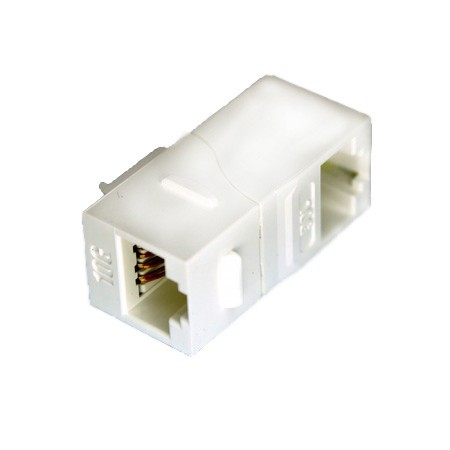 Cat 6A UTP 90 Degree Inline Coupler