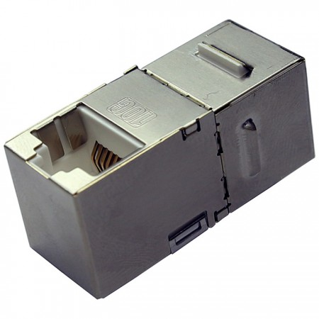 Cat.6A FTP 90 fokos beépített csatoló - Cat6 FTP beépített csatoló