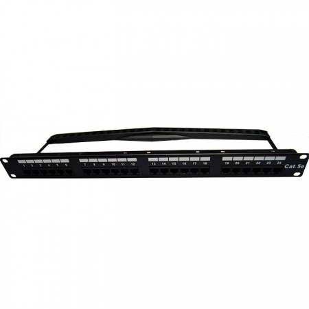Cat5E UTP 1U 24 PORT 180 Degree RJ45 Patch Panel - Cat5E UTP Patch Panel
