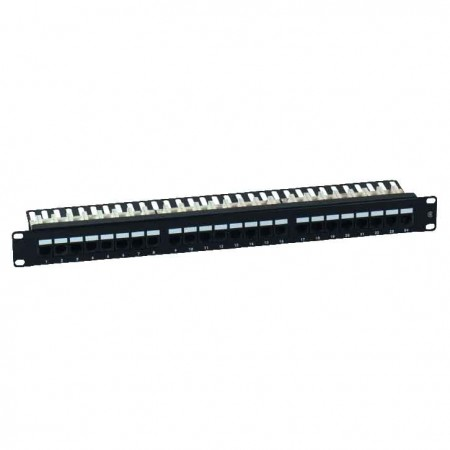 Cat. 6 UTP 90° 1U 24 Port RJ45 Patch Panel - Cat6 UTP Patch Panel