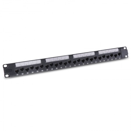 Cat 6A UTP Module Patch Panel 24 Port - EXW 24 Port Cat 6A Patch Panel - 1u UTP Right Angled