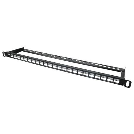 0,5U 24 portos UTP üres panel - Nagy sűrűségű, 0,5u 24 portos üres panel