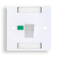 British Shuttered Faceplate 1 port With icon tabs - British Shuttered faceplate 1 port with icon tabs, size 86*86mm