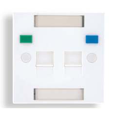 British Shuttered Faceplate 2 port With icon tabs - British Shuttered faceplate 2 port with icon tabs size 86*86mm