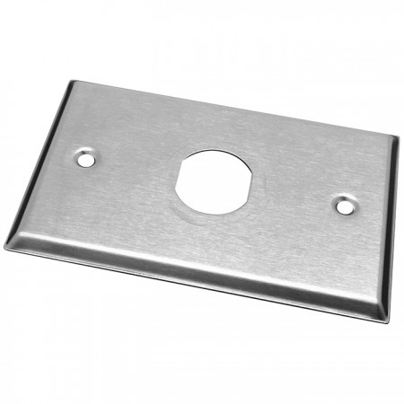 IP44 Industrial RJ45 Keystone Stainless Steel Faceplate - IP44 Industrial RJ45 Keystone Stainless Steel Faceplate