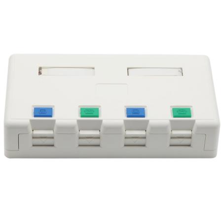 تركيب سطح غير محمل مع منفذ صندوق الغالق 4 - مربع تركيب السطح غير المحمل 4 منفذ