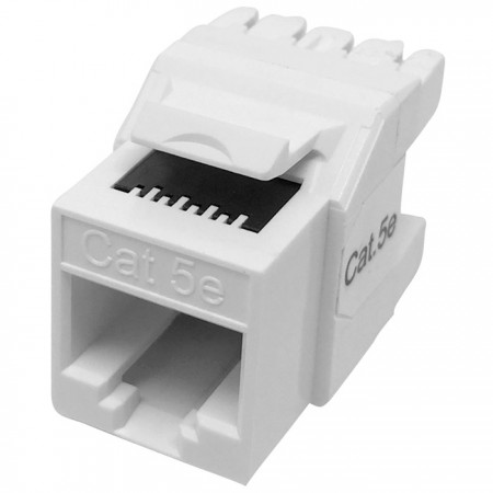 Cat5E UTP 180°  110 Punch Down RJ45 Keystone Jack