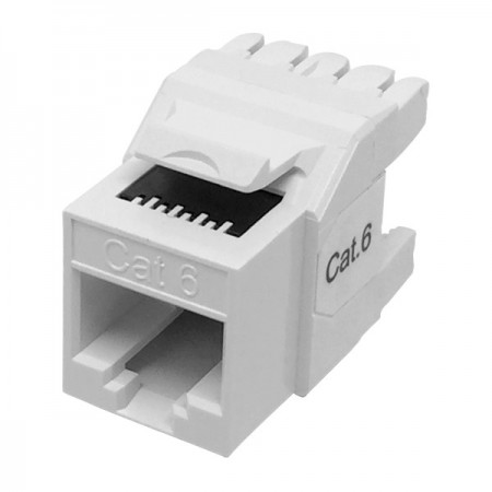 Cat6 UTP 180° 110 and Krone Dual RJ45 Keystone Jack - Cat 6 UTP RJ45 Keystone Jack