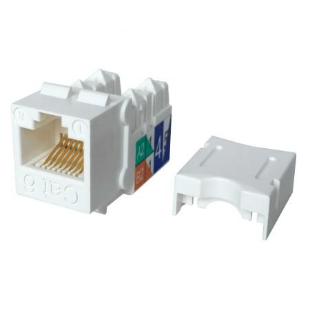 Cat6 UTP 90° 110 Punch Down RJ45 Keystone Jack - Cat 6 UTP 90 degree keystone Jack