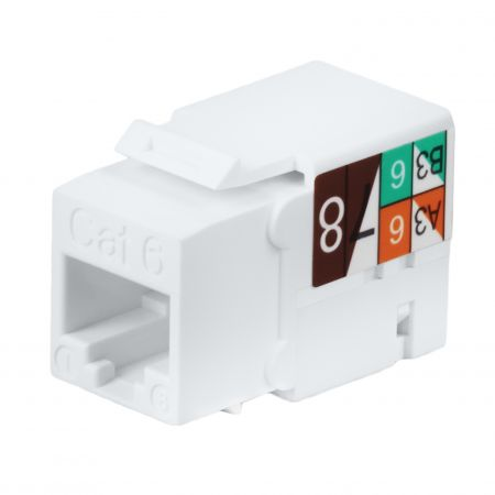 Cat6 UTP 90 ° 110 Punch Down RJ45 Keystone Jack - Cat 6 UTP 90 graders keystone Jack