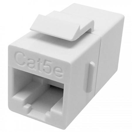 Kat. 5E UTP 180 fokos inline csatoló - Cat5e UTP 180 fokos soros csatoló