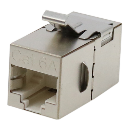 Cat. 6A STP 180 Degree in-line coupler