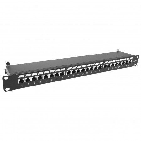 Cat. 6 STP 1U 24 Port Patch Panel Krone Type - Cat6 STP Patch Panel
