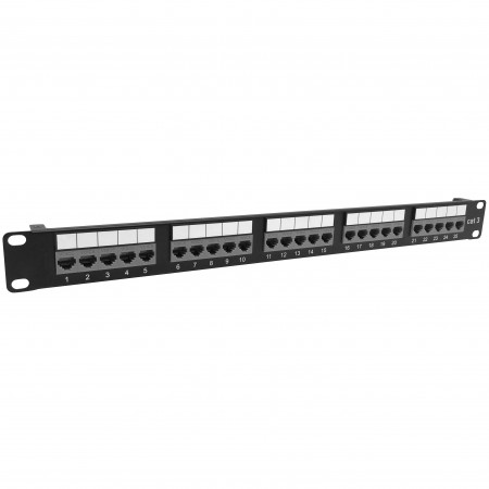 Cat3 25 Port Voice Panel Toolless Type - Cat3 25port Voice Patch Panel