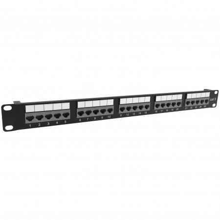 Cat3 25 Port Voice Panel Toolless-Typ - Cat3 25port Voice-Patchpanel