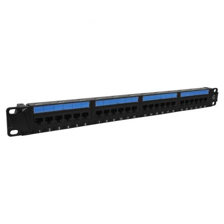 Cat5E UTP 1U 24 PORT  6-IN-1 180 Degree RJ45 Patch Panel - Cat5E UTP Patch Panel