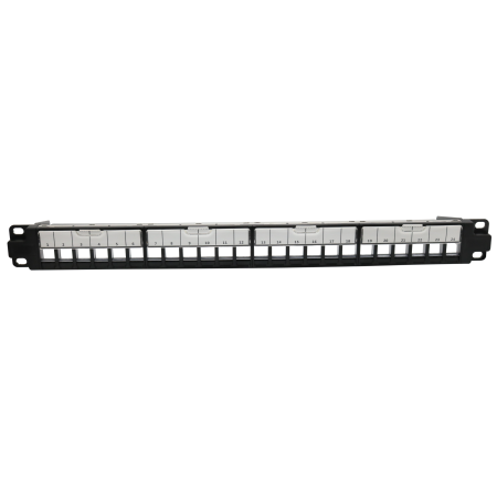 1U 24 Port FTP UTP Dual Empty Patch Panel With Shutter - 1U 24PORT FTP UTP Dual Shuttered Empty Patch Panel