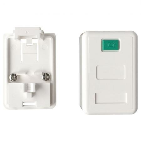 Tehermentesített felületszerelő doboz 1port - Tehermentesített felületszerelő doboz 1 port