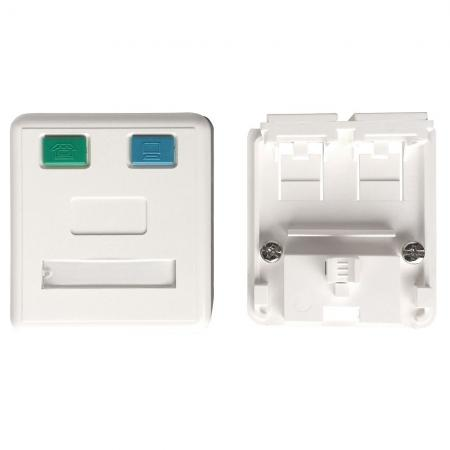 Tehermentesített felületszerelő doboz 2 port - Tehermentesített felületszerelő doboz 2 port