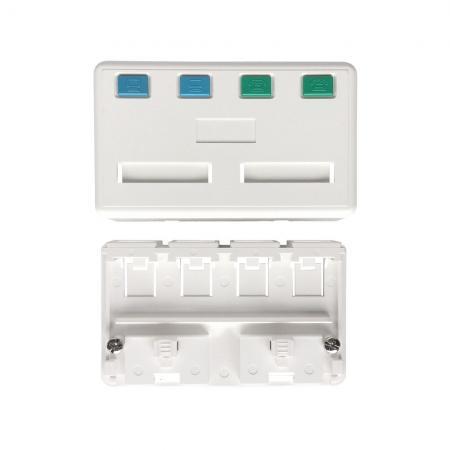 Tehermentesített Felszíni szerelő doboz 4 port - Tehermentesített Felszíni szerelő doboz 4 port