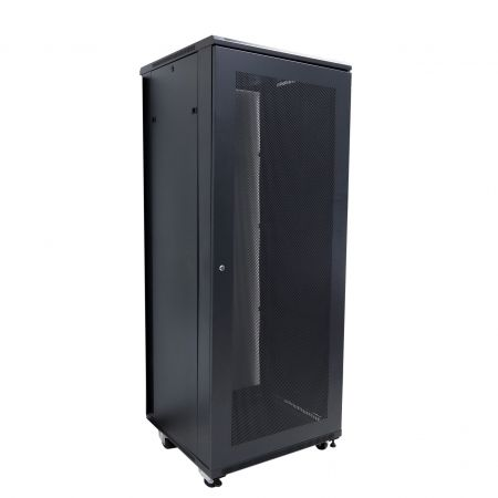 37U SPCC Network Rack Cabinet - SPCC Network Cabinet with Front toughened glass door with handle lock