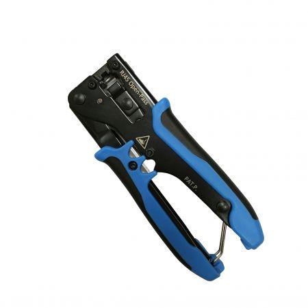 Kompaktes Crimpwerkzeug für einfache RJ45-Durchgangsstecker - Leicht zu tragendes Crimp-Handwerkzeug zum Durchführen von RJ45-Modulsteckern