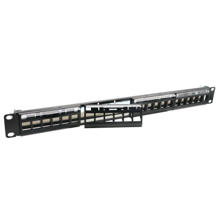 1U 24 PORT FTP FRONT ACCESS EMPTY PANEL - BRACKET PANEL