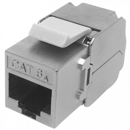 Cat.6A STP 180 درجة أداة كيستون جاك الحرة - Cat.6A FTP 180 درجة كيستون جاك