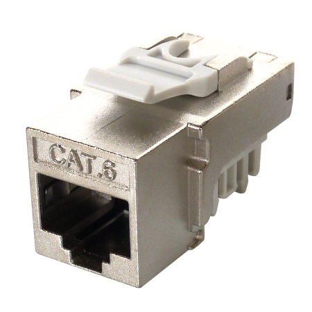 Cat6 STP 90°  110 Punch Down RJ45 Keystone Jack