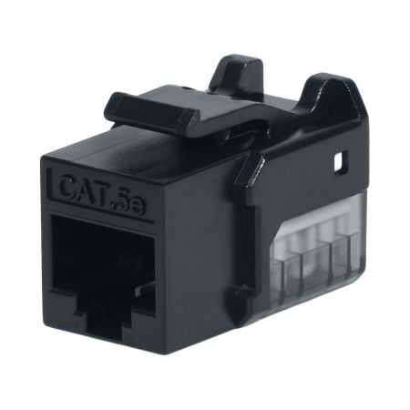 Cat. 5E UTP 90 Degree 110 Keystone Jack