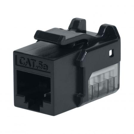 Cat. 5E UTP 90 Degree 110 Keystone Jack - CAT5e UTP RJ45 Keystone Jack